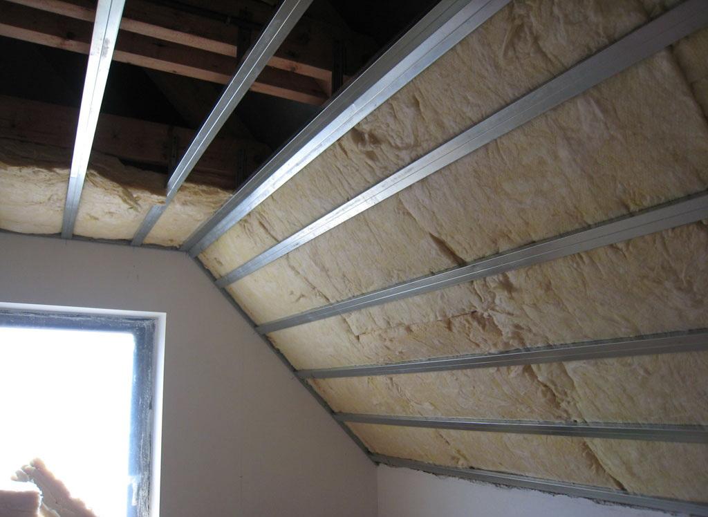 ایجاد سقف سبک با پشم شیشه- صنایع دکوراتیو